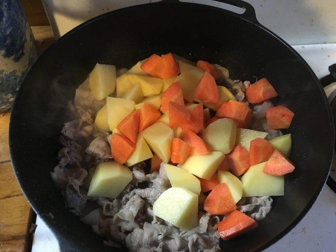 ローソンフレッシュ肉じゃが作り方2